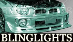2002-2007 SUBARU IMPREZA AIT RACING BODY KIT BUMPER FOG LIGHTS DRIVING LAMPS 2003 2004 2005 2006