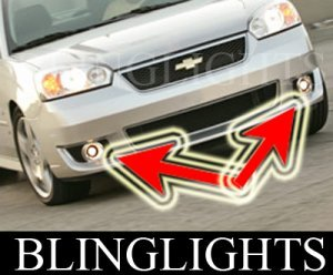 2006 2007 CHEVROLET CHEVY MALIBU SS FOG LIGHTS DRIVING LAMPS LIGHT LAMP KIT
