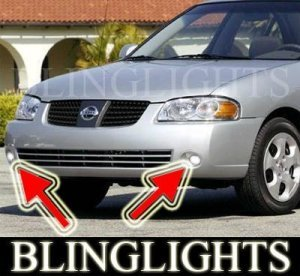 2003 2004 2005 NISSAN SENTRA XENON FOG LIGHTS DRIVING LAMPS LIGHT LAMP KIT 2.5LE 2.5S 2.5 LE S