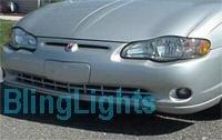 2000-2005 CHEVY MONTE CARLO XENON FOG LIGHTS PAIR lamps 2001 2002 2003 2004