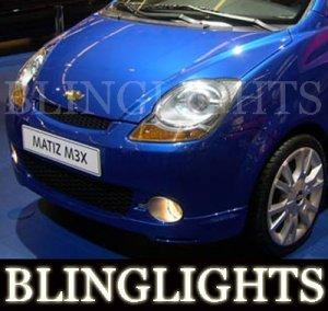 1998-2009 CHEVY MATIZ LED FOG LIGHTS 1999 2000 2001 2002 2003 2004 2005 2006 2007 2008 daewoo lamps