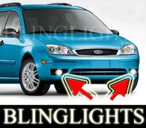 2005 2006 2007 FORD FOCUS ZXW XENON FOG LIGHTS PAIR DRIVING LAMPS LAMP LIGHT KIT s se ses wagon