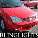 2005-2007 FORD FOCUS ZX4 ST LED FOG LIGHTS PAIR DRIVING LAMPS LAMP LIGHT KIT 2006