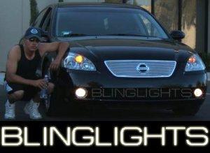 2002 2003 2004 NISSAN ALTIMA ANGEL EYES FOG LIGHTS HALOS LAMPS LIGHT LAMP KIT L31 S SE SL 02 03 04