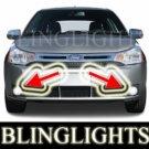 2008 2009 2010 FORD FOCUS SE COUPE XENON FOG LIGHTS BUMPER DRIVING LAMPS LIGHT LAMP KIT 08 09 10