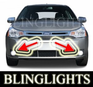 2008 2009 2010 FORD FOCUS SE COUPE XENON FOG LIGHTS BUMPER DRIVING LAMPS LIGHT LAMP KIT 08 09 10