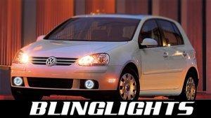 2003-2009 VOLKSWAGEN RABBIT FOG LIGHTS lamps vw 2dr 4dr 2004 2005 2006 2007 2008