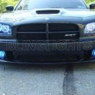 DODGE CHARGER SRT-8 SRT8 ANGEL EYE HALO FOG DRIVING LIGHTS LAMPS LIGHT LAMP KIT 2006 2007 2008 2009