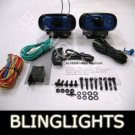 BLACK HELLA BLUE LENS RECTANGULAR AUXILIARY DE FOG LIGHTING LIGHTS LAMPS LIGHT LAMP KIT
