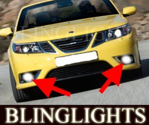 2008 2009 2010 SAAB 9-3 CONVERTIBLE XENON FOG LIGHTS LAMPS LIGHT LAMP KIT touring comfort sport aero