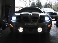 1998-2002 PONTIAC FIREBIRD ANGEL EYES FOG LIGHTS DRIVING HALOS LAMPS LIGHT LAMP KIT 1999 2000 2001