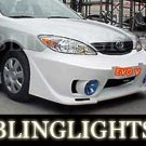 2002-2006 TOYOTA CAMRY JUNBUG BODY KIT BUMPER FOG LIGHTS DRIVING LAMPS LAMP LIGHT 2003 2004 2005