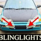 1988-1991 HONDA CIVIC SI BUMPER XENON FOG LIGHTS DRIVING LAMPS LIGHT LAMP KIT 1989 1990
