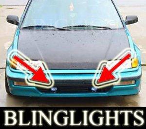 1988-1991 HONDA CIVIC SI BUMPER XENON FOG LIGHTS DRIVING LAMPS LIGHT LAMP KIT 1989 1990