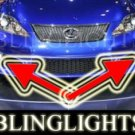 2009 2010 LEXUS IS-F LED XENON BUMPER FOG LIGHTS DRIVING LAMPS LIGHT LAMP KIT ISF IS F 09 10