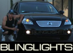 2002 2003 2004 NISSAN ALTIMA ANGEL EYE FOG LIGHTS HALO LAMPS LIGHT LAMP KIT 2.5 3.5 S SE SL 02 03 04