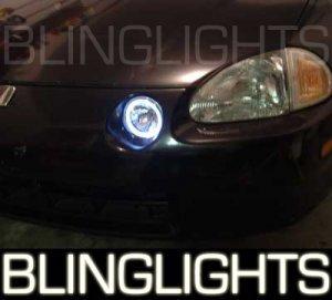 1993-1997 HONDA DEL SOL ANGEL EYES FOG LIGHTS HALOS DRIVING LAMPS LIGHT LAMP KIT 1994 1995 1996