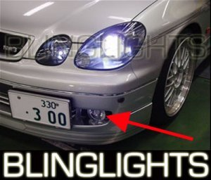 1992-1997 LEXUS GS300 ANGEL EYE HALO FOG BUMPER LIGHTS LAMPS LIGHT LAMP KIT 1993 1994 1995 1996