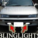 1992-1997 TOYOTA COROLLA SALOON FOG LIGHTS DRIVING LAMPS LIGHT LAMP KIT 1993 1994 1995 1996