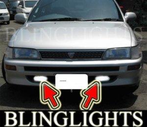 1992-1997 TOYOTA COROLLA SALOON FOG LIGHTS DRIVING LAMPS LIGHT LAMP KIT 1993 1994 1995 1996