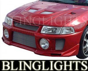 1997-2002 Mitsubishi Mirage Silk Evo V Style Body Kit Bumper Fog Lights Lamps 1998 1999 2000 2001
