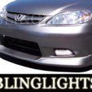 2001-2005 HONDA CIVIC AAS XENON BODY KIT FOG LIGHTS DRIVING LAMPS LIGHT LAMP KIT 2002 2003 2004