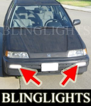 1988-1991 HONDA CIVIC WAGON XENON FOG LIGHTS DRIVING LAMPS LIGHT LAMP KIT 1989 1990