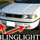1988-1992 TOYOTA COROLLA FOG LIGHTS DRIVING LAMPS LIGHT LAMP KIT dx le sr5 gt-s 1990 1991 90 91 92