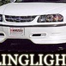 2000-2004 CHEVROLET IMPALA RAZZI BODY KIT FOG LIGHTS DRIVING LAMPS LIGHT LAMP KIT 2001 2002 2003