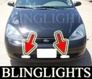 2000-2004 FORD FOCUS SEDAN LX XENON FOG LIGHTS DRIVING LAMPS LAMP LIGHT KIT 2001 2002 2003
