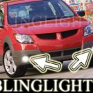 2003 2004 PONTIAC VIBE XENON FOG LIGHTS DRIVING LAMPS LIGHT LAMP KIT 03 04