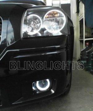 DODGE MAGNUM BUMPER HALOS FOG DRIVING LIGHTS LAMPS LIGHT LAMP KIT 2005 2006 2007 2008