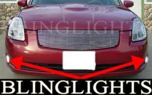 2004 2005 2006 Nissan Maxima Xenon Fog Lights Driving Lamps Light Lamp Kit 04 05 06 A34 3 5 Se Sl