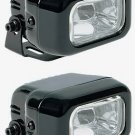 BLACK HELLA CLEAR LENS RECTANGULAR AUXILIARY DE FOG LIGHTING LIGHTS LAMPS LIGHT LAMP KIT