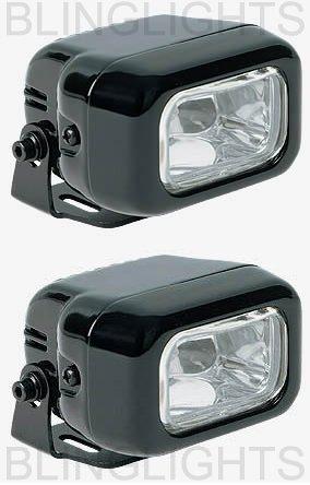 BLACK HELLA CLEAR LENS RECTANGULAR AUXILIARY DE FOG LIGHTING LIGHTS LAMPS LIGHT LAMP KIT