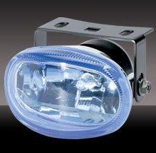 CHROME BLING BLINGLIGHTS BLUE XENON LENS OVAL AUXILIARY FOG LIGHTING LIGHTS LAMPS LIGHT LAMP KIT