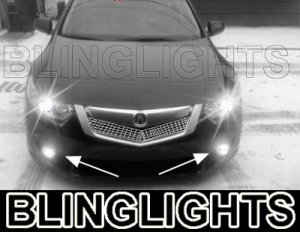 2009 2010 ACURA TSX BUMPER XENON LED FOG DRIVING LIGHTS LAMPS LIGHT LAMP KIT 09 10 2.2 2.4 3.5
