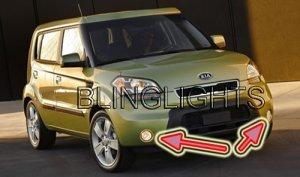 2010 KIA SOUL XENON FOG LIGHTS LED DRIVING LAMPS BUMPER LIGHT LAMP KIT + BASE ! SPORT