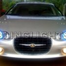 2002 2003 2004 CHRYSLER CONCORDE ANGEL EYES FOG LIGHTS HALOS DRIVING LAMPS HALO EYE LIGHT LAMP KIT