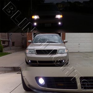 1998-2004 Audi A6 Xenon Fog Lights Driving Lamps Kit 1999 2000 2001 2002 2003