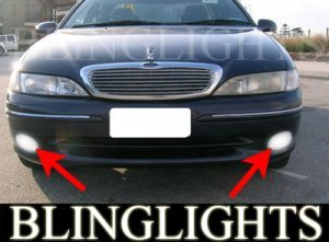 1991-1998 FORD FAIRLANE GHIA FOG LIGHTS driving lamps 1992 1993 1994 1995 1996 1997