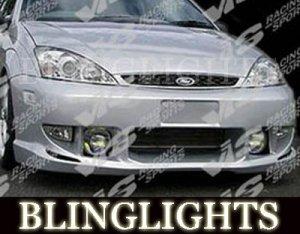 2000-2004 FORD FOCUS VIS RACING BODY KIT BUMPER FOG LIGHTS LAMPS LAMP 2001 2002 2003