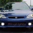 1999-2000 HONDA CIVIC SI XENON FOG LIGHTS DRIVING LAMPS BUMPER LIGHT JDM LAMP KIT 1997 1998 1999