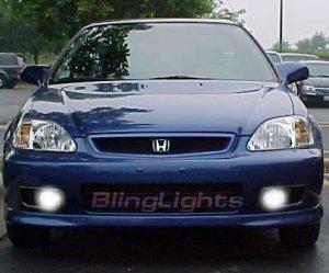 1999-2000 HONDA CIVIC SI XENON FOG LIGHTS DRIVING LAMPS BUMPER LIGHT JDM LAMP KIT 1997 1998 1999