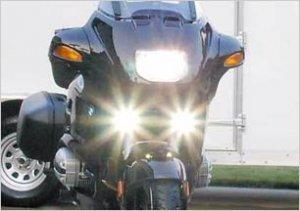 2001-2009 TRIUMPH BONNEVILLE T100 XENON FOG LIGHTS DRIVING LAMPS 2002 2003 2004 2005 2006 2007 2008