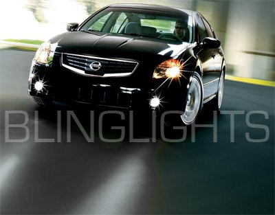2007-2008 Nissan Maxima Halo Fog Lamps lights 07 blue