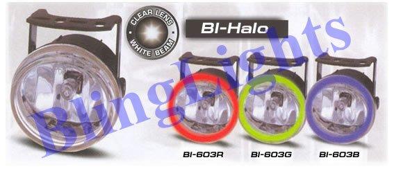 2003-2009 GMC Sierra White Halo Fog Lamps lights 06 07