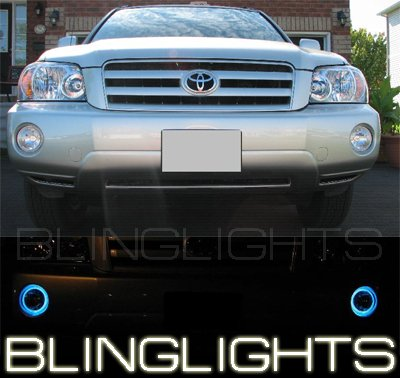 2001-2007 TOYOTA HIGHLANDER BLUE HALO FOG LIGHTS 06 07