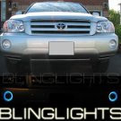 2001-2007 TOYOTA HIGHLANDER BLUE HALO FOG LIGHTS 06 07