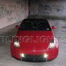 Nissan 350z Xenon Projector Fog Lamps Grille Driving Lights Kit 2003 2004 2005 2006 2007 2008 2009